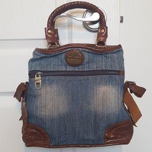 2/$60 Vintage Miss Sixty jean leather handbag